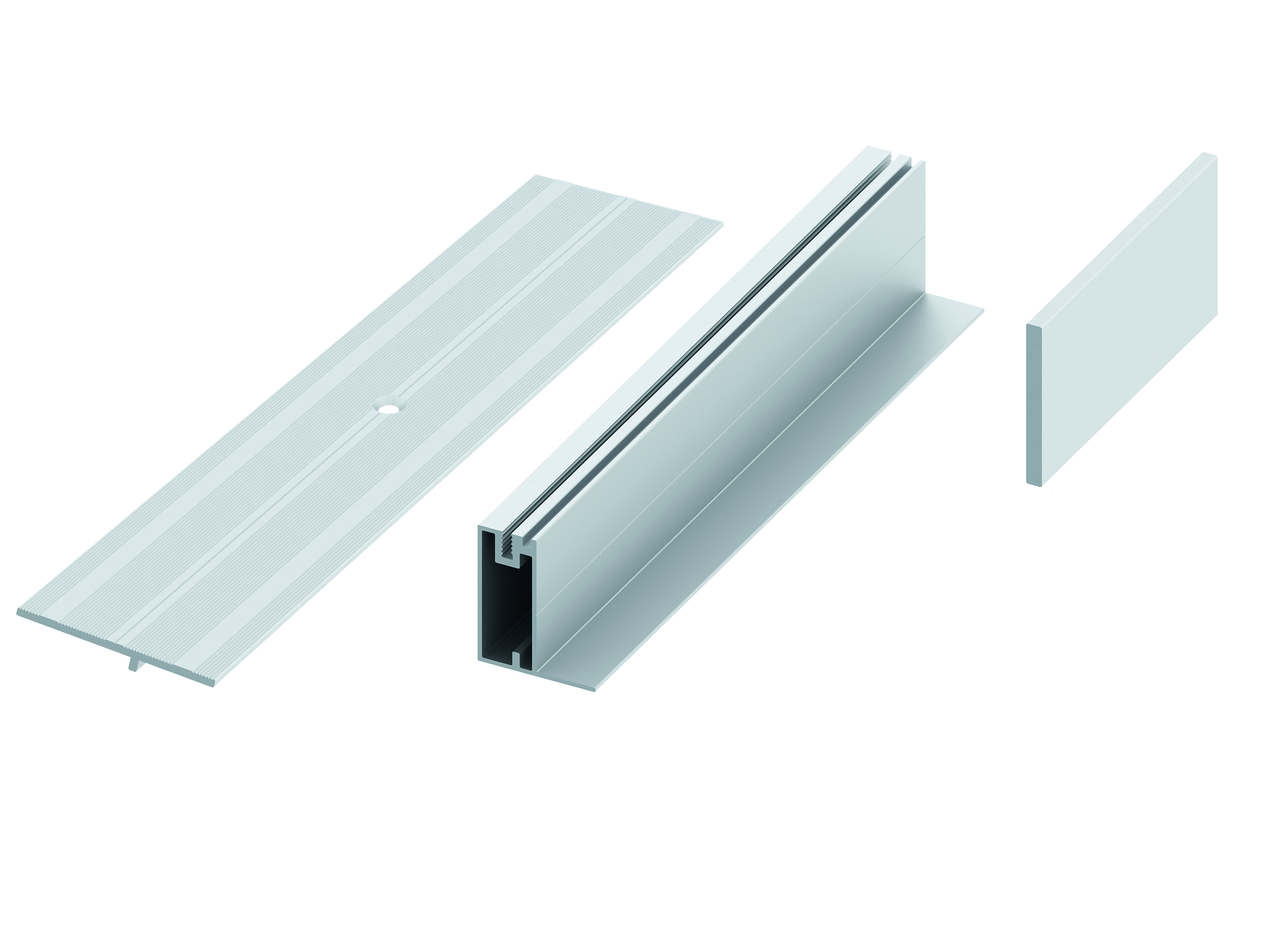 Versatile aluminium edgings for the verando terrace decking.